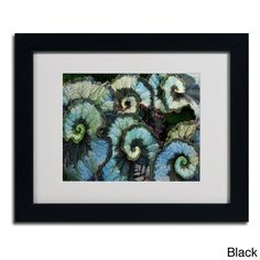 Kurt Shaffer 'Escargot Begonia' Framed Matted Art