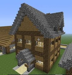 An Awesome but Simple Minecraft House! Minecraft Structures, Easy Minecraft Houses, Minecraft House Designs, Minecraft Blueprints, Minecraft Creations, How To Play Minecraft, Minecraft Crafts, Minecraft Buildings, Minecraft Stuff