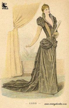 1890 Victorian Fashion, Vintage Fashion, Fashion Illustration Vintage, Fashion Illustrations, Fashion Plates, Feminine Style, Colour Images, Formal Wear, Casual