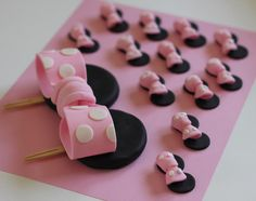 24-Piece Minnie Mouse Fondant Toppers - Perfect for Cupcakes, Cookies and Other Edibles. $39.98, via Etsy.