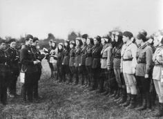 Pilots of the 588th Night Bomber Regiment, commonly known as the Night Witches.