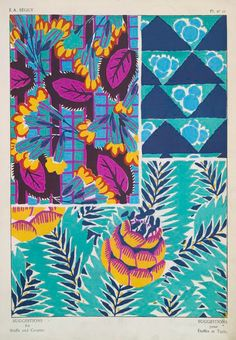 Floral Patterns / textile design drawings