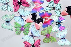 Butterfly Buttons for Sewing Scrapbooking and More, Butterfly Buttons, Sewing Buttons, 2 Hole Buttons, 39mm x 22mm (R8-198)