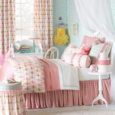 Our Maggie Bedding Collection makes a beautiful transition from toddler room to a big girl room!