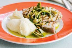 Coeliac or not, this swordfish and garlic mash combo is hard to resist.