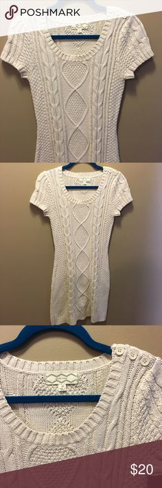 Cream Sweater Dress Size medium, excellent condition, offers welcome! Dresses