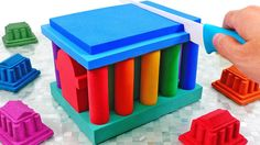 Learn Colors Mad Mattr Temple Kinetic Sand Rainbow House for Kids Rainbow House, Kinetic Sand, Learning Colors, Bookends, Temple, Youtube, Mad, Temples, Youtubers