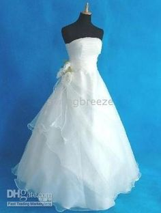 Wholesale Princess White Wedding Dress Bridal Gown , Custom made, Free shipping, $65.4-82.6/Piece   DHgate