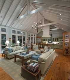 Farmhouse Family Room by M. Barnes & Co