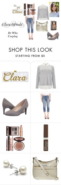 """""""Clara Oswald Dr Who Cosplay"""" by naomi-mimi-davies-brown on Polyvore featuring Studio 8, Cole Haan, Paige Denim, Charlotte Tilbury, Rimmel, L'Oréal Paris and Rosetti"""