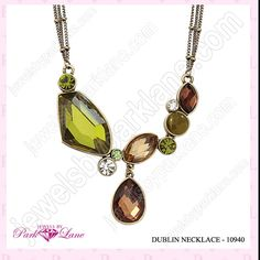 Beautiul colors in  necklace and has matching earings and bracelet!  Very nice item!  Contact me at my email: sschmidt63@yahoo.com for more info.  Shelley Schmidt