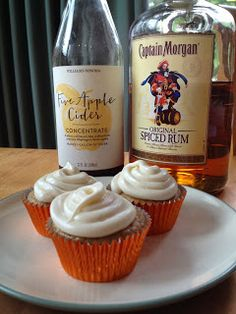 Captain Morgan Apple Cider Cupcakes perfect fall treats!