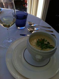 Cauliflower Soup at Chewton Glen