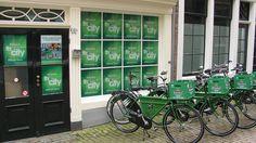 Heineken bike delivery service.
