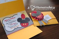 Invitaciones de Mickey Mouse