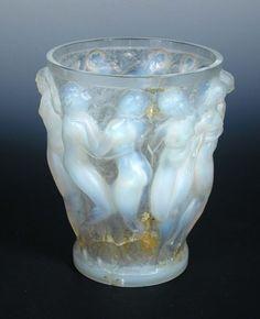 Bacchantes, A René Lalique opalescent glass vase, Lalique Jewelry, Jewellery, Car Hood Ornaments, Sweet Box, Antique Auctions, Glass Ceramic, Glass Design, Product Design, Craftsman