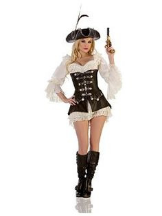 Sexy Rouge Pirate | Cheap Pirate Halloween Costume for Sexy Costumes