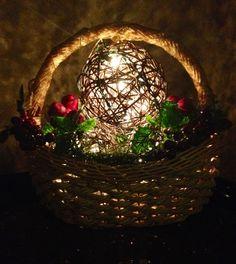 Holiday Basket Holiday Baskets, Terrarium, Christmas Decorations, Decorating, Winter, Home Decor, Terrariums, Decor, Winter Time