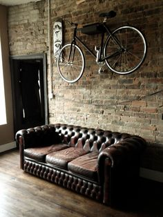 North West Barber Co. - Exposed Brick Wall & Fixie Wall Mount