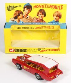 Corgi 277 Monkeemobile MIB w/Incredibly rare with colourful detachable retailer header card