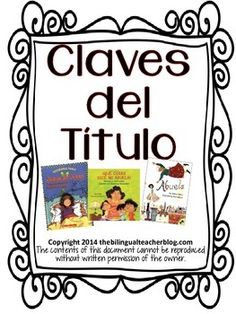 Spanish: Spanish free resource. Your students will love this free Spanish reading resource! Claves de Ttulo helps students learn skills on predicting, the theme, show us pictures that will tell us what the book is all about, the print will tell us if it's an easy book or too difficult for our reading level, it talks about the characters and also let's me know if I have read it or not!