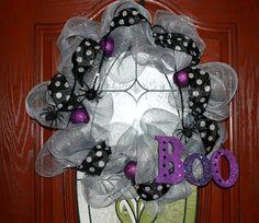 Halloween Deco Mesh Wreath...spiders