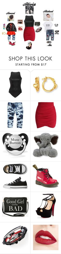 """Untitled #436"" by davionaworley ❤ liked on Polyvore featuring Oye Swimwear, Bardot Junior, Chicwish, Disney, Converse, Dr. Martens, Torrid, Talitha, Jouer and Imoga"