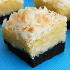 Black-Bottom Coconut Bars by Gonna Want Seconds