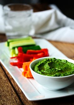 Spinach Hummus!  Is