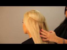 Hairspray Halo - Hair Extensions On-A-Wire With No-Clips - YouTube