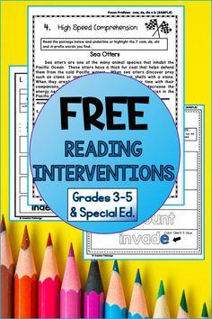 Reading Intervention Strategies, Decoding Strategies, Reading Fluency, Teaching Reading, Guided Reading, Free Reading, Teaching Ideas, Grade 3, Fourth Grade
