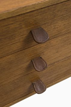 A pair of Danish bureaus in oak, teak and brown leather at Studio Schalling Furniture Projects, Cool Furniture, Furniture Design, Art Nouveau, Muebles Art Deco, Danish Design, Leather Handle, Home Deco, Hooks
