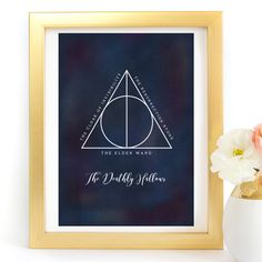 """The Deathly Hallows Symbol"" Harry Potter Typography Art Print - Paper Ponies Boutique Deathly Hallows Symbol, Print Paper, Harry Potter Art, Typography Art, Ponies, Wands, Symbols, Boutique, Art Prints"