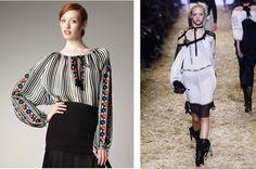 """Adevărata ie românească şi """"suratele"""" ei de import - Financiarul. Folk Costume, Ethnic Fashion, Outfit Posts, Going Out, Bell Sleeve Top, Sequins, Feminine, Ruffle Blouse, Silk"""