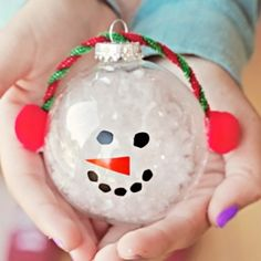 1000 ideas about melted snowman ornament on pinterest for Clear ornament snowman craft