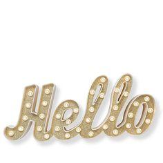"Heidi Swapp Marquee Love ""Hello"" Word Light Decoration - 20"""