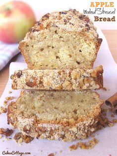 Apple Walnut Streusel Bread | Cakescottage
