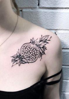Nature Tattoos, Body Art Tattoos, Girl Tattoos, Tattoos For Women, Tatoos, Tattoo Son, Back Tattoo, Hades Tattoo, Pomegranate Tattoo