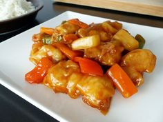 Sweet and sour Chinese style pork Pork Recipes, Cooking Recipes, Healthy Recipes, Recipies, Food Website, Mini Foods, Chinese Food, Chinese Style, Food Dishes