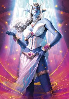 Queen Azshara From the upcoming Timewalkers, War of the Ancients World of Warcraft TCG set. World of Warcraft and all related material copyright © Blizzard Entertainment World Of Warcraft Tcg, Warcraft Art, Batgirl, Night Elf, Heroes Of The Storm, Dark Elf, Wow Art, Fandom, Animation