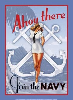 U.S. Navy Vintage Style Pin-Up Girl