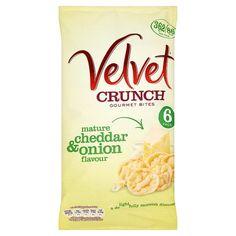 Velvet Crunch Cheddar And Spring Onion 6X20g