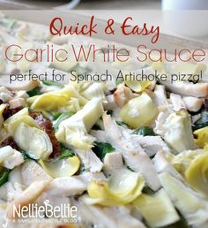This quick and easy garlic white sauce is perfect for a light and healthier pizza