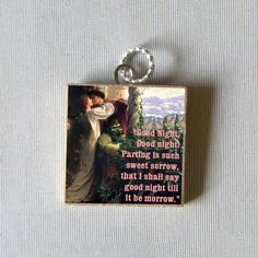 ROMEO and JULIET quote Pendant by QuotedArt on Etsy, $8.00