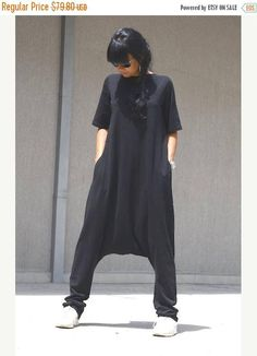 sale 25% off Maxi black jumpsuit maxi jumpsuit harem