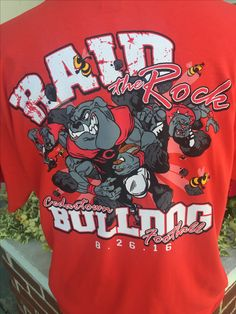 shirt for local school's football rivalry