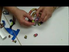 Video: Iris Weiss demonstrates how to make segmented bracelets with internal elastic ~ Polymer Clay Tutorials
