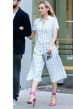 Diane Kruger looking chic as ever in a Forever 21 culottes two-piece. Get the look here.