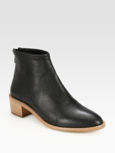 Loeffler Randall Felix Leather Ankle Boots in Black | Lyst