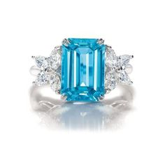 Harry Winston Jewels: Rings - Marquesa Aquamarine Ring with diamonds found on Polyvore